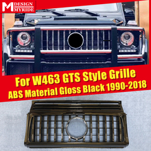 W463 GT Grills Fit For MercedesMB G Class G500 G550 Sports Front Grille Without sign 1:1 Replacement ABS Black Grille 1990-2018 carbonart w463 gt grille fit for mercedes g class g500 g55 g63 to 1991 2016 year gt style grille w463 accessories