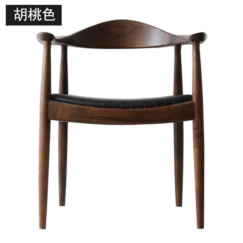 Backrest armrest simple fashion cafe hall club hotel chair nordic solid wood dining chair