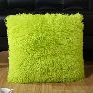 Square Pillows Faux-Fur Decorative Back-Cushion-Cover Sofa Throw Fluffy Soft
