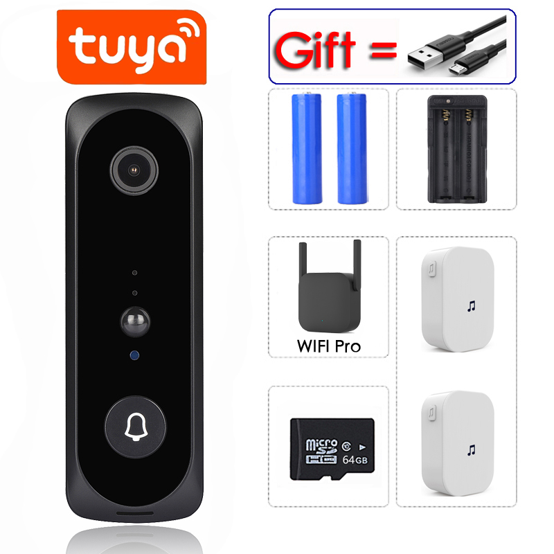 Tuya App 2MP Smart Wifi Video Deurbel Camera Visuele Intercom Met Chime Nachtzicht Ip Deurbel Draadloze Home Security camera