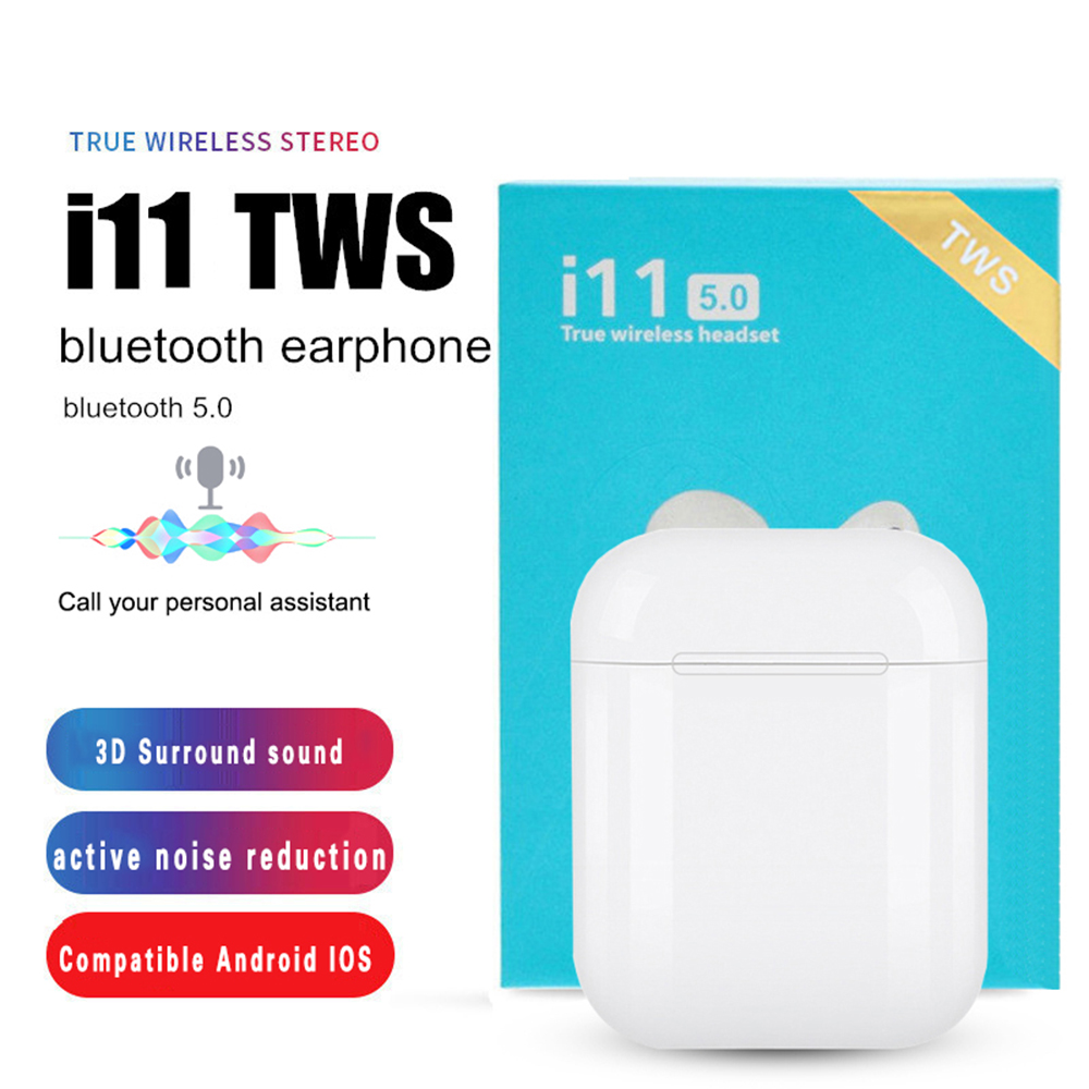 2019 New I11 TWS Bluetooth Earphones Mini Wireless Headsets  Stereo Sport Headset With Mic Cordless Earbuds Handsfree For Xiaomi