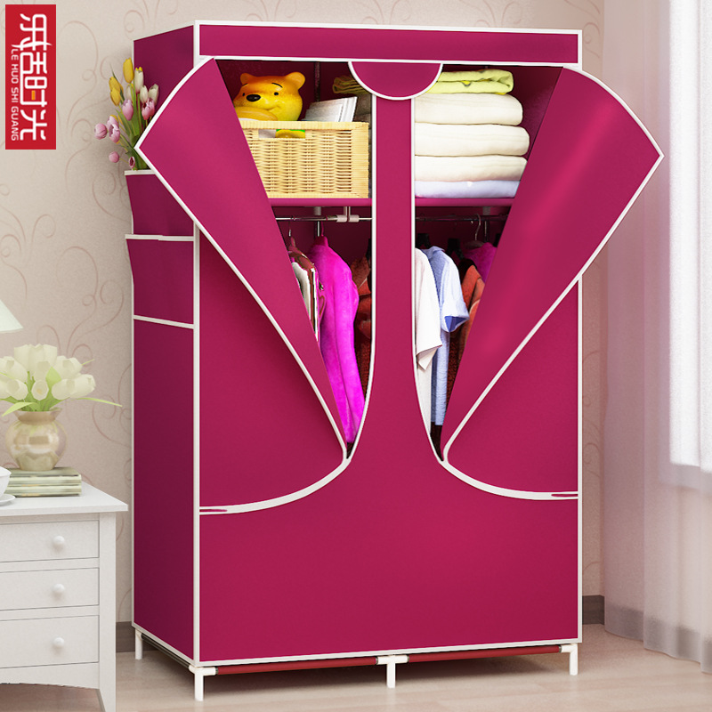 Nonwoven Fabric Simplicity Cloth Wardrobe Storage Wardrobe Folding Wardrobe Korean Style