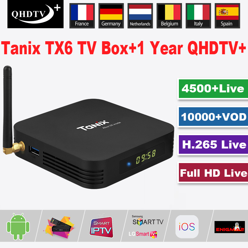 Worldwide delivery tanix tx6 android tv box in Adapter Of NaBaRa