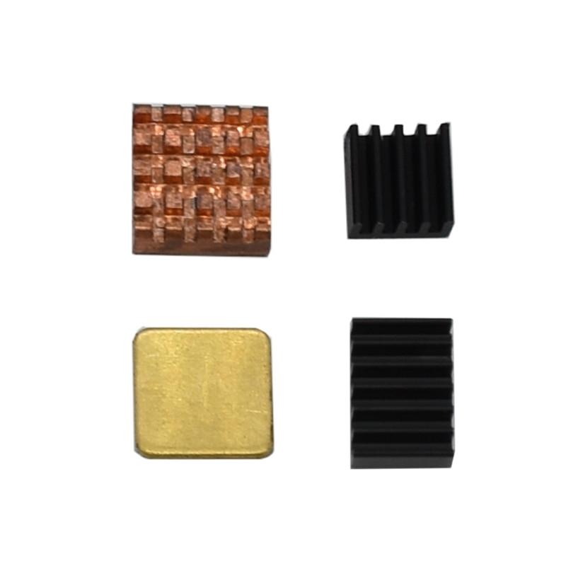 4Pcs Copper Aluminum Heatsink Kit Cooler Kit For Raspberry Pi 4 Model B