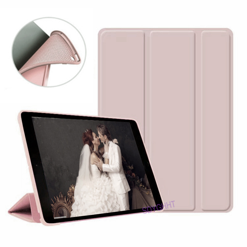 Pink 2 Ivory 2020 case For iPad 10 2 inch 8th 7th Generation model A2270 A2428 Silicone soft bottom