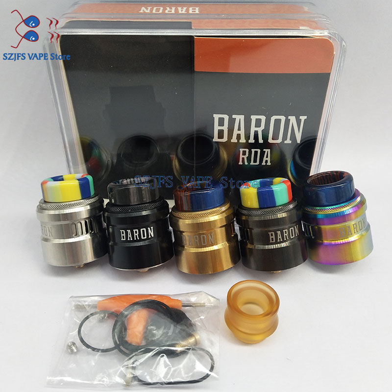 Baron RDA 24mm Dual Post Deck Easy Dual Coil Building Leak-proof Adjustable Airflow Vape Tank VS Reload S Drop Profi KALI V2 RDA