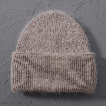 Casual Women's Hats Cashmere Wool Knitted Beanies Autumn Winter Brand New Three Fold Thick 2020 Knitted Girls Skullies Beanies 12
