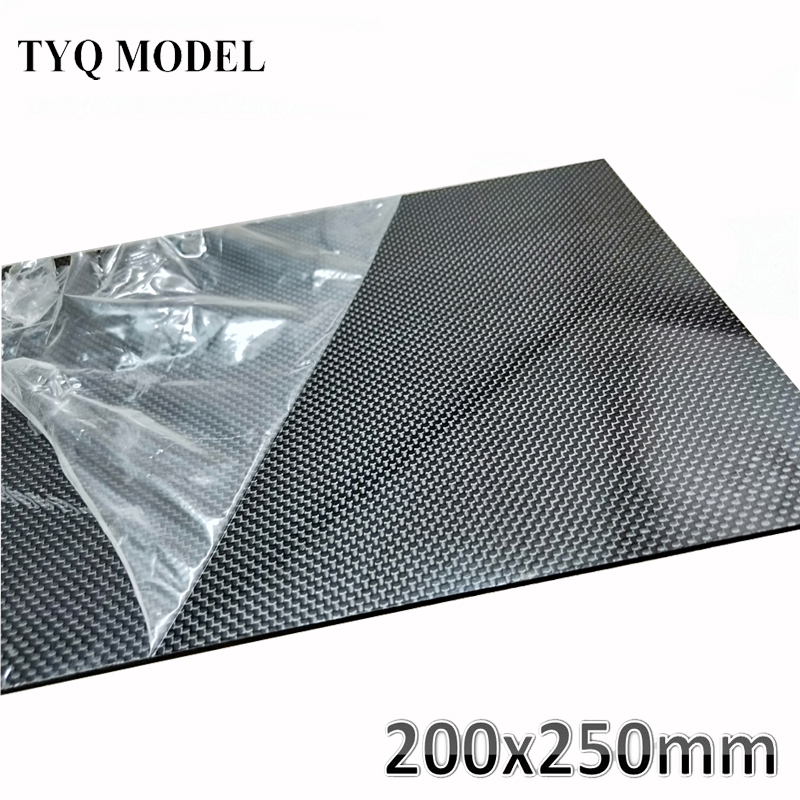 1pcs 200x250mm 3K High Hardness Carbon Fiber Sheets 100% Pure Carbon Panel Board 0.5mm-5mm Thickness Carbon Fiber Model Material