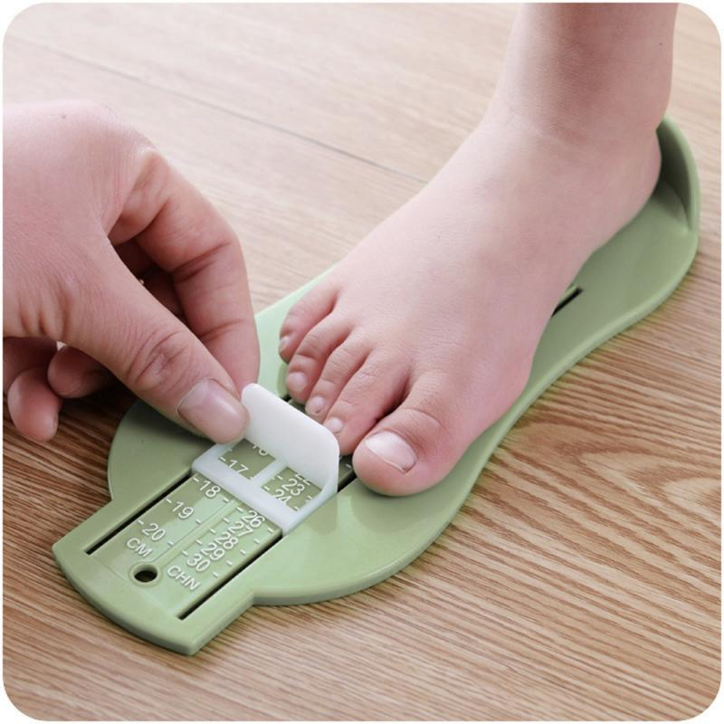 Baby Foot Ruler Children Baby Amount Of Foot Measuring Instrument Baby Foot Ruler Infant Shoes Fittings Gauge Tools 3 Colors