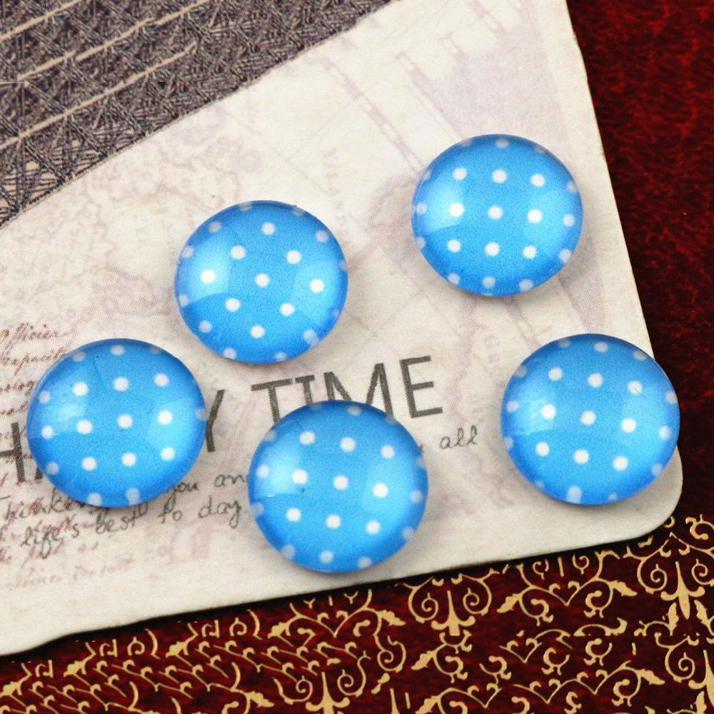 Hot Sale 20pcs 12mm Handmade Photo Glass Cabochons  E5-21
