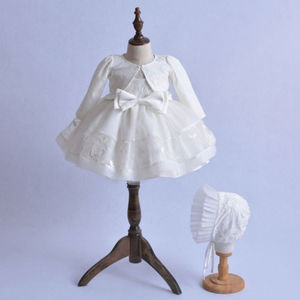 Комплект одежды из 3 предметов для маленьких девочек, нарядное платье принцессы крестильное платье с кружевами, свадебных церемоний, дней р...