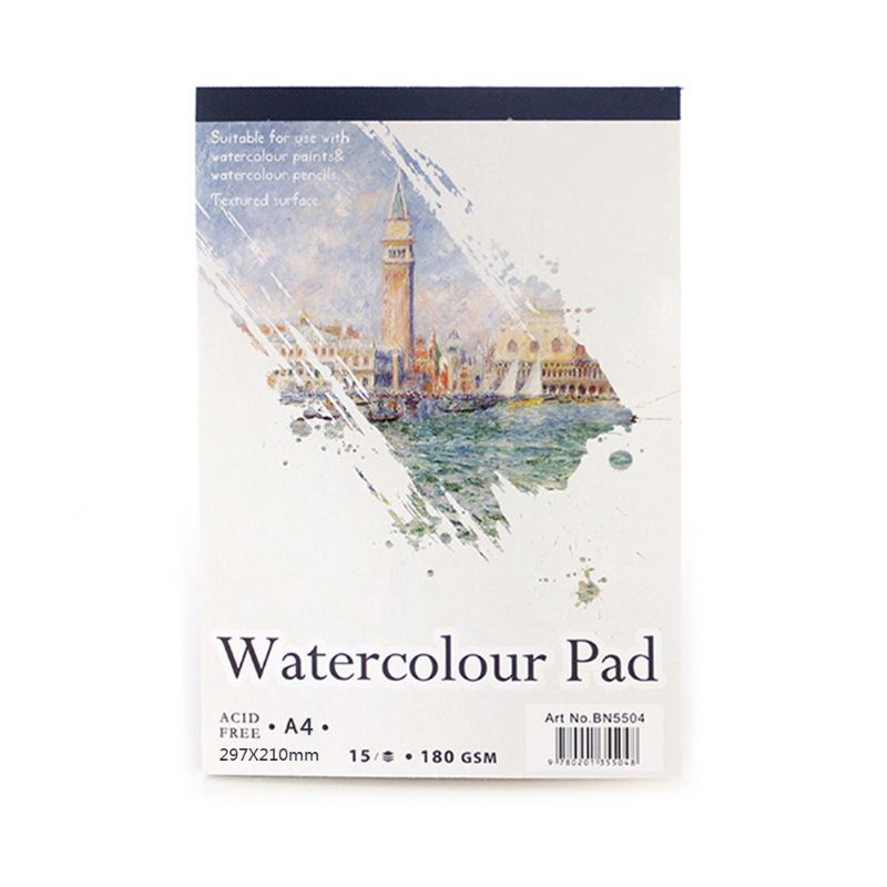 15 Sheets A3/A4/A5 Watercolor Paper Sketch Book Notepad for Painting Drawing Art