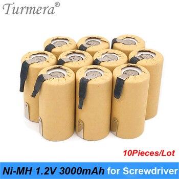 цена на Turmera NI-MH 1.2V Battery 3000mah SC3000 Soldering for Screwdriver Battery Vacuum Cleaner Robot 1.2v ni-mh rechargeable battery
