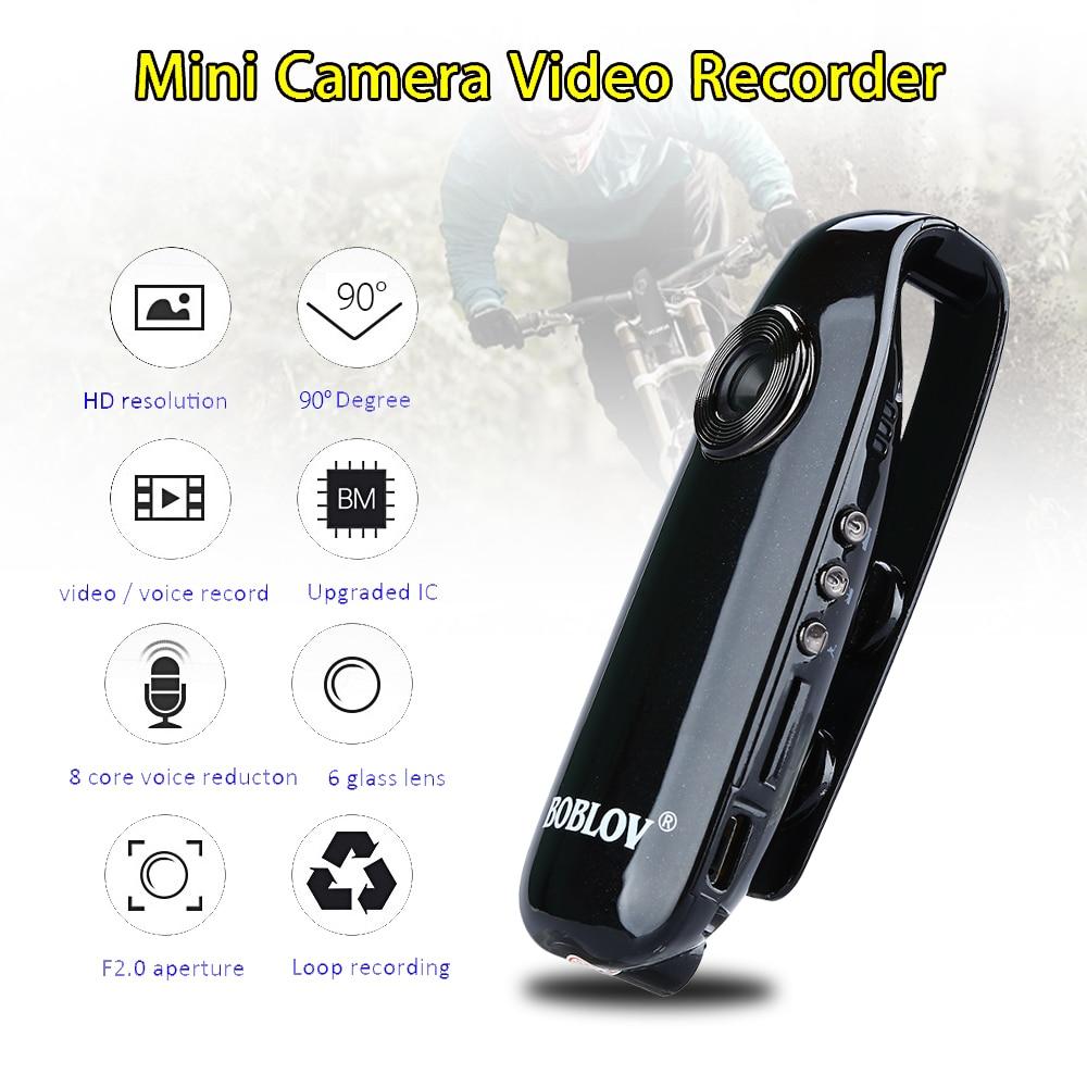 Boblov hd 1080 p mini câmera 007 corpo cam dvr câmeras de detecção de movimento câmeras digital gravação loop dashcam monitor do bebê