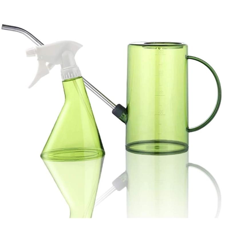 1л длинный носик лейка банка дождевание горшок мистер спрей бутылка набор для цветов растений суккулентов бонсай дома сада