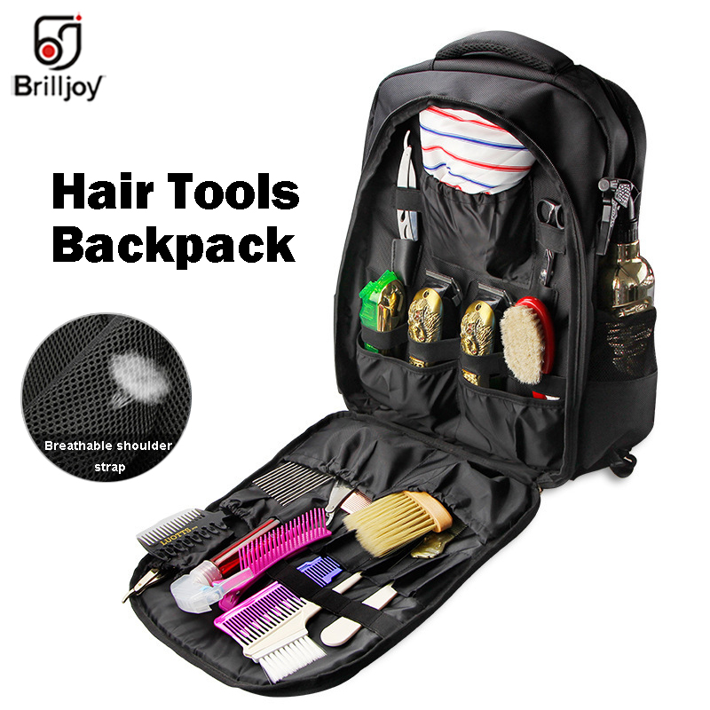 Brilljoy Hairdressing Tools Backpacks Large Capacity Storage Tool Bags Haircut Style Outdoor Travel Backpack Cosmetic Organizer