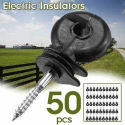 50pcs Cerca Elétrica Isolador Anel Offset Parafuso Em Postos de Esgrima Fio de Seguro Agrícola jardim suprimentos acessórios