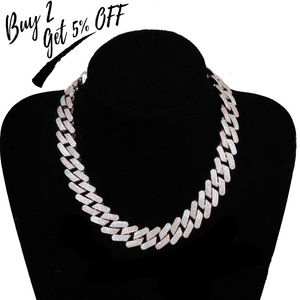 Image 2 - TOPGRILLZ 20mm Miami Newest Box Clasp Cuban Link Chain Heavy Iced Zircon Necklace Choker Bling Bling Hip hop Jewelry For Men