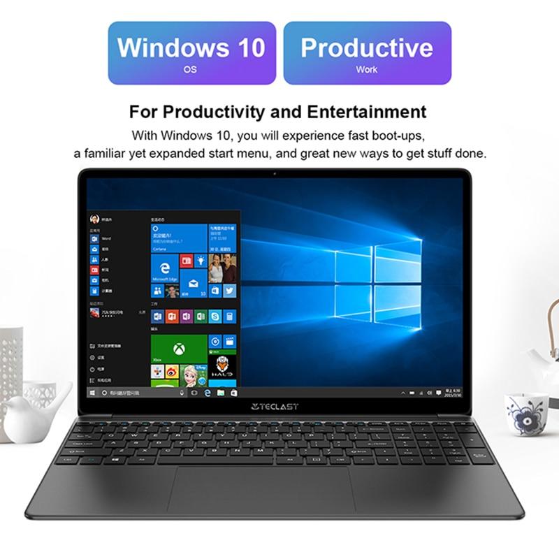 Newest Teclast F15S 15.6 Inch Laptop Windows 10 Notebook 1920x1080 Intel Apollo Lake Laptops 8GB RAM 128GB SSD Dual Wifi HDMI-3