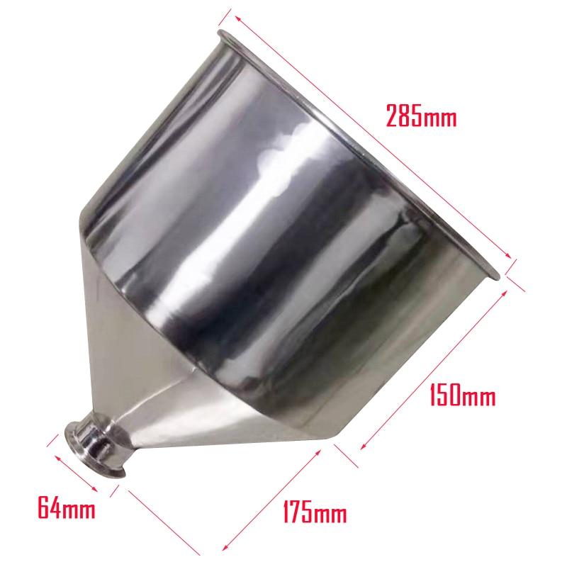 Hopper For A02/A03 Manual Filling Machine Semi-automatic Filler Penumatic Bottling Machine 10L SS304 With Cover