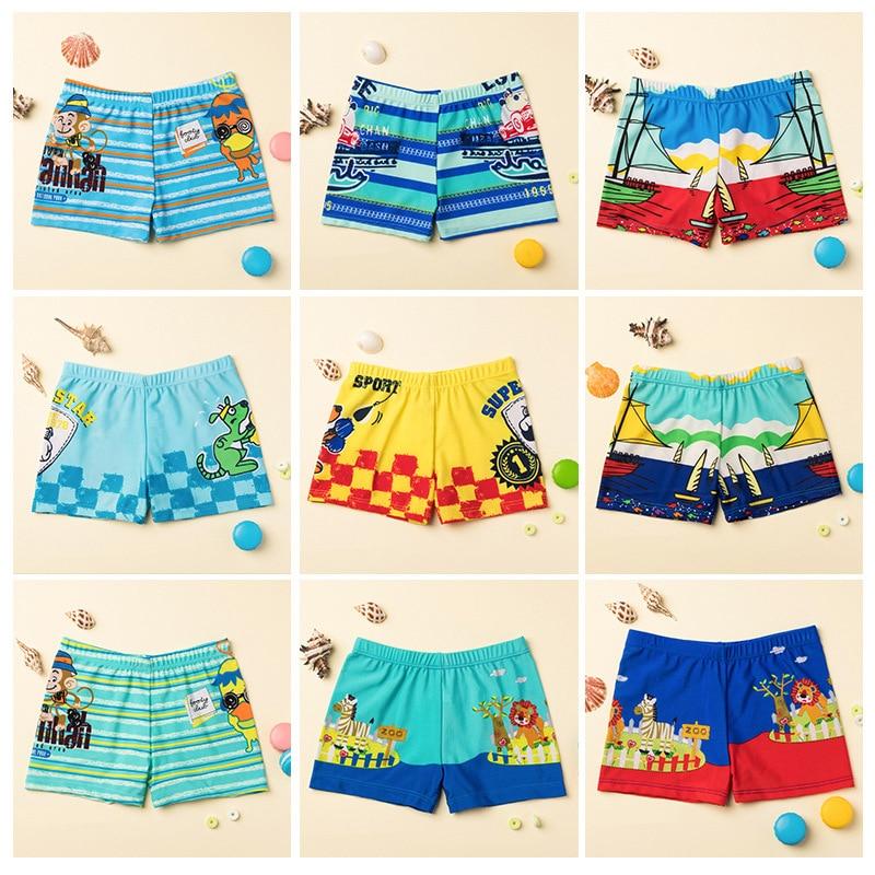 Swimming Trunks For Boys Cartoon Print Trunks Swimsuit 2-9Y Children's Swimwear Kids Trunk Shark Beachwear Boys Bathing Suit