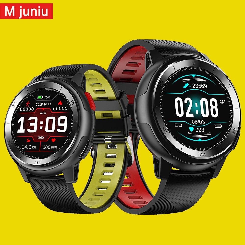 Смарт часы Mjuniu DT68 для мужчин, IP68 Водонепроницаемые, 1,2 дюйма, полный сенсорный экран, 30 дней в режиме ожидания, ЭКГ Смарт часы для iphone, samsuang