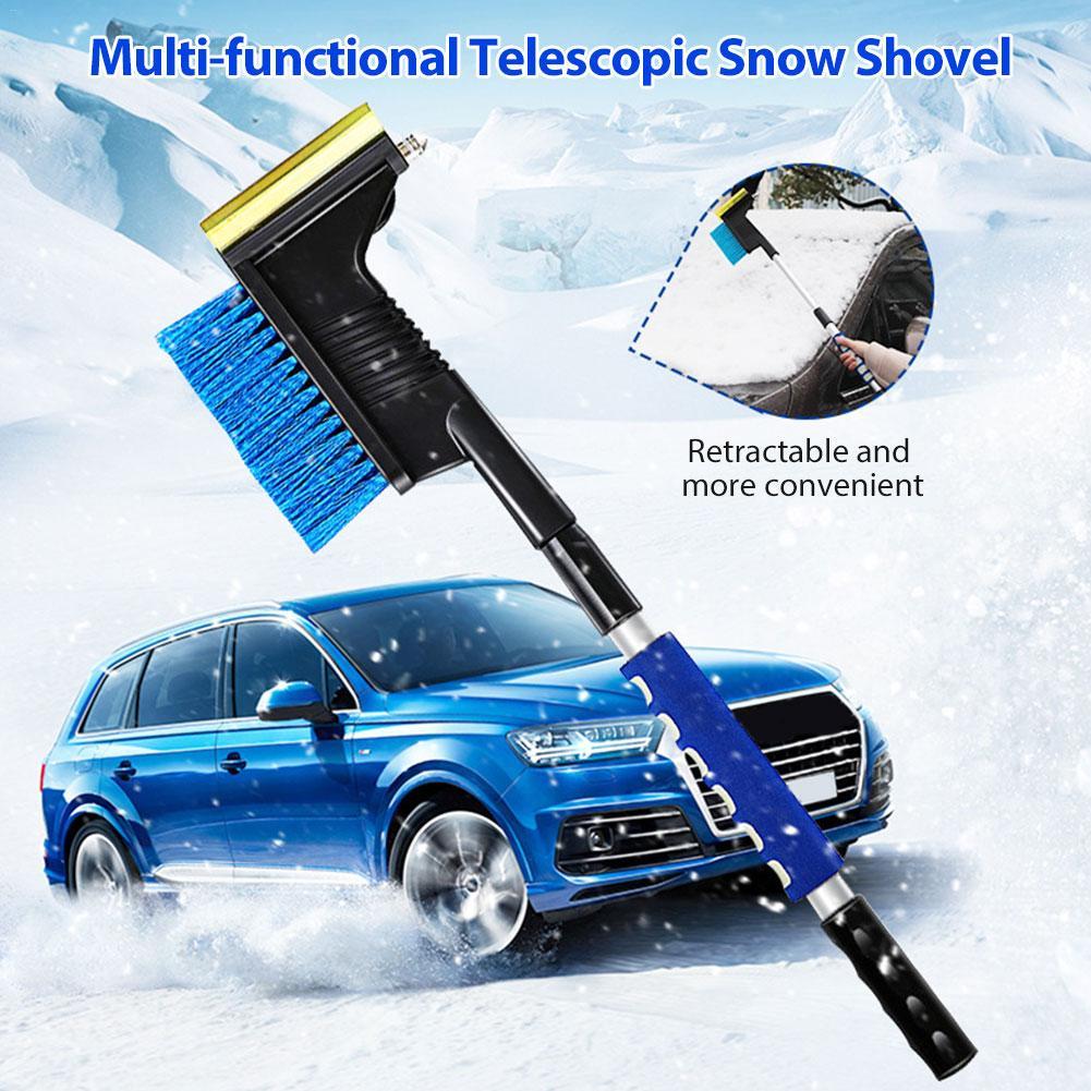 2-in-1 Ice Scraper w//Brush Universal Car Windshield Snow Remove Broom Cleaner