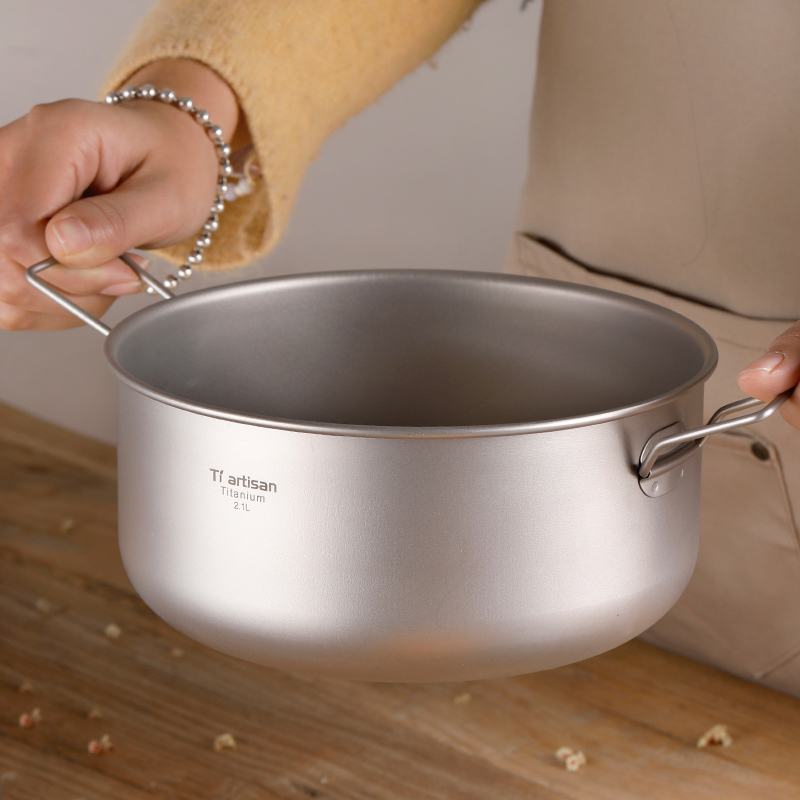 titanio tigela de salada ultraleve saudavel titanio puro grande tigela sopa pote para acampamento ao ar