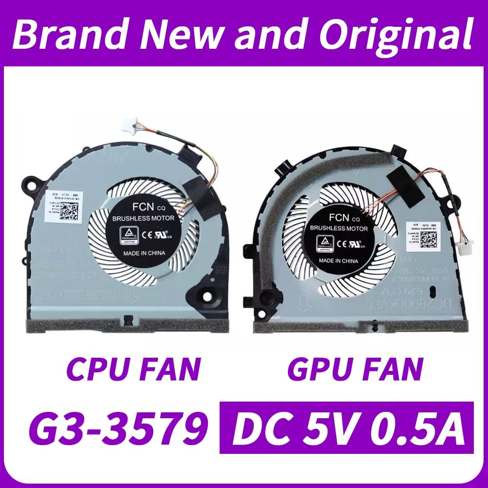 Новая Оригинальная Процессор графического процессора вентилятор для Dell G3 G3-3579 G3-3578 серии вентилятор охлаждения CN-0TJHF2 CN-0GWMFV DFS481105F20T FKB6