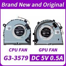 Novo orignal cpu gpu ventilador para dell g3 G3-3579 G3-3578 série ventilador de refrigeração CN-0TJHF2 CN-0GWMFV dfs481105f20t fkb6