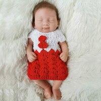 OtardDolls Bebe Reborn Full Body Solid silicone Dolls 10 inch mini reborn baby girl dolls soft real touch boneca reborn gift