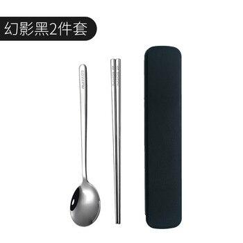 Cubertería De acero inoxidable portátil comida coreana cuchara De viaje Set De...