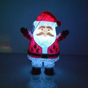 Светодиодная гирлянсветильник s, снеговик, Санта-Клаус, украшение для рождественской елки, лампа для настроения, светильник, подвесное украшение для рождественской елки, новогодние подарки, сайт алиэкспресс на русском в рублях
