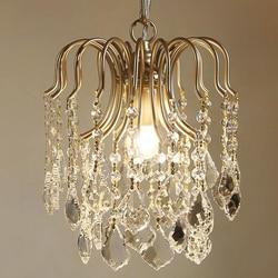 Amerykański wiejski crystal light mały kryształ światła francuski korytarz kryształowy żyrandol jadalnia korytarz sypialnia światło werandy