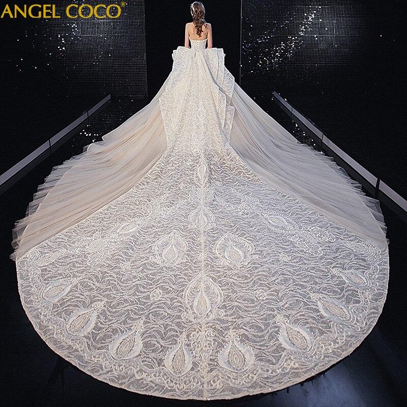 Dubai Arabic Robe De Mariee Designer Sweetheart Golden Luxury Wedding Dress 2020 Princess Wedding Gowns Bridal Gown Bride Dress