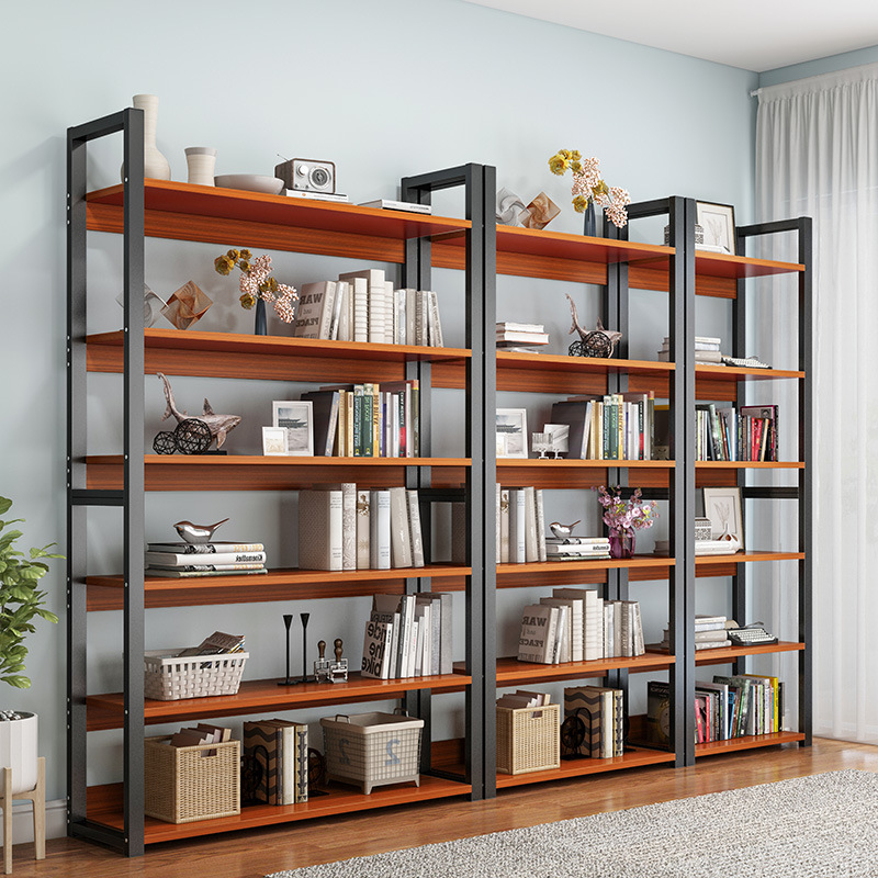 Simple Bookcase Storage Shelf Floor Living Room Storage Rack Minimalist Modern Assembly Multi-functional Province Space Combined