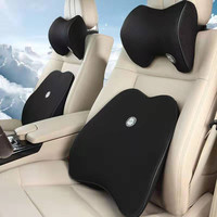 New set of car neck headrest pillows and backs car seat head support neck protector car seat neck rest memory foam accessories|Neck Pillow| |  -