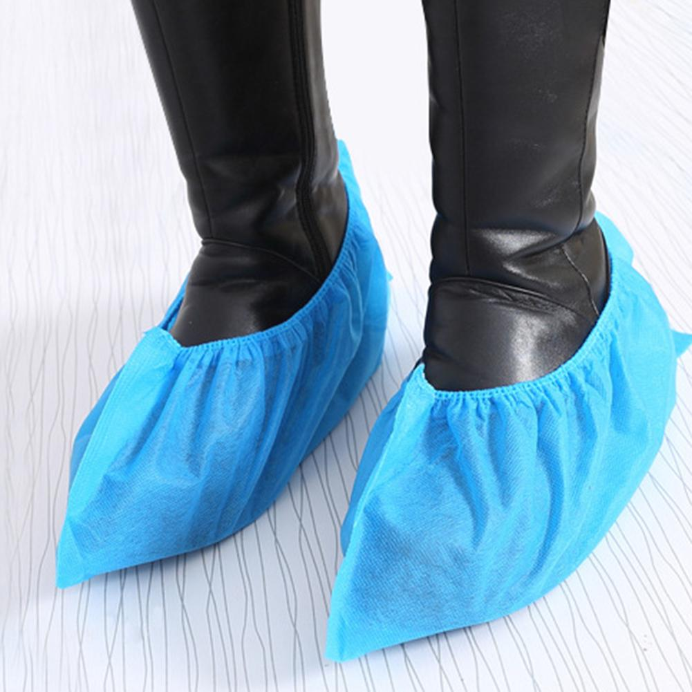 100Pcs/Set Disposable Breathable Anti-slip Thicken Protective Boot Shoe Covers Children Adult Non-woven Household Foot Cover