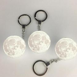 Портативный светильник с 3D принтом Луны, брелок, украшение, ночная лампа, креативные подарки, Прямая поставка