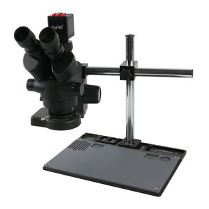Image 1 - Aluminum Workbench Stand + 7X 45X Simul Focal Trinocular Stereo Microscope + 1080p HDMI VGA Electronic Digital Video Camera