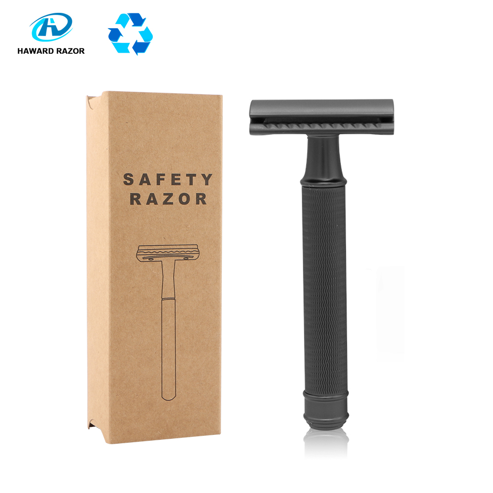 HAWARD Safety Razor Men's Double Edge Razor Classic Manual Shaver Zinc Alloy Head Metal Razor For Shaving&Hair Removal 20 Blades