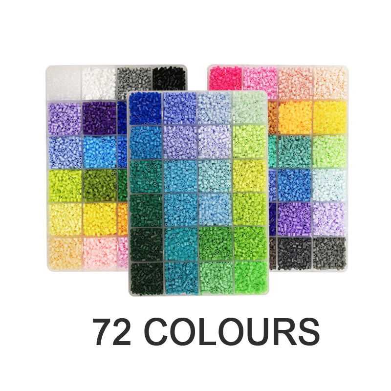Yantjouet 2.6mm 72colour 3Plate With Tools Kit 26400pcs Hama Beads Mini Beads Iron Beads DIY Toy For Kids High Quality Box