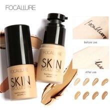 FOCALLURE Base visage liquide fond de teint crème couverture complète correcteur huile contrôle facile à porter fond de teint maquillage visage doux