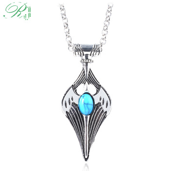 RJ New Game The Elder Scrolls Necklace Morrowind Skryim Amulet of Kynareth Mara Collar Pendants Divines Keyring Cosplay Jewelry image