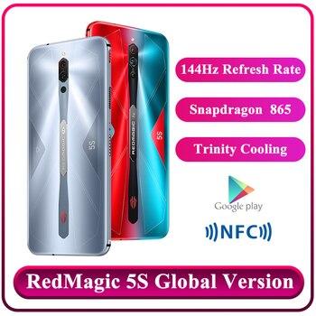 Купить Глобальная версия Nubia красный Магия 5S игровой смартфон 8 ГБ 128 рамка Redmagic 5S 5G игровой мобильный телефон Snapdragon 865 телефон NFC 2020