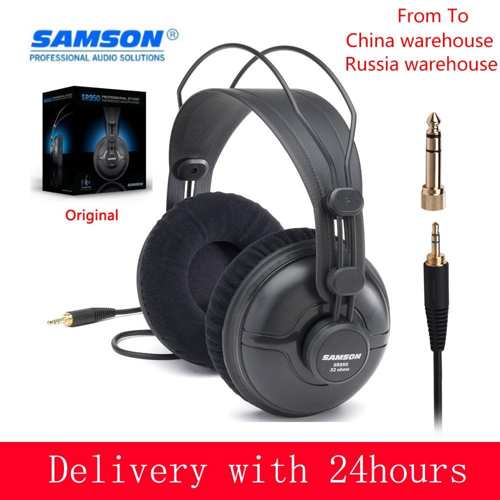 SAMSON SR950 Professional Studio Referenz Monitor Kopfhörer Dynamische Headset Geschlossen Ohr Design für Aufnahme Überwachung Spiel DJ