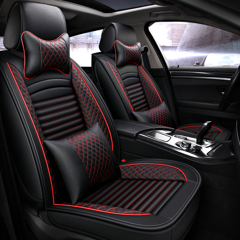 Car-Seat-Covers Fit Universal Waterproof Auto New PU for Gift Luxury