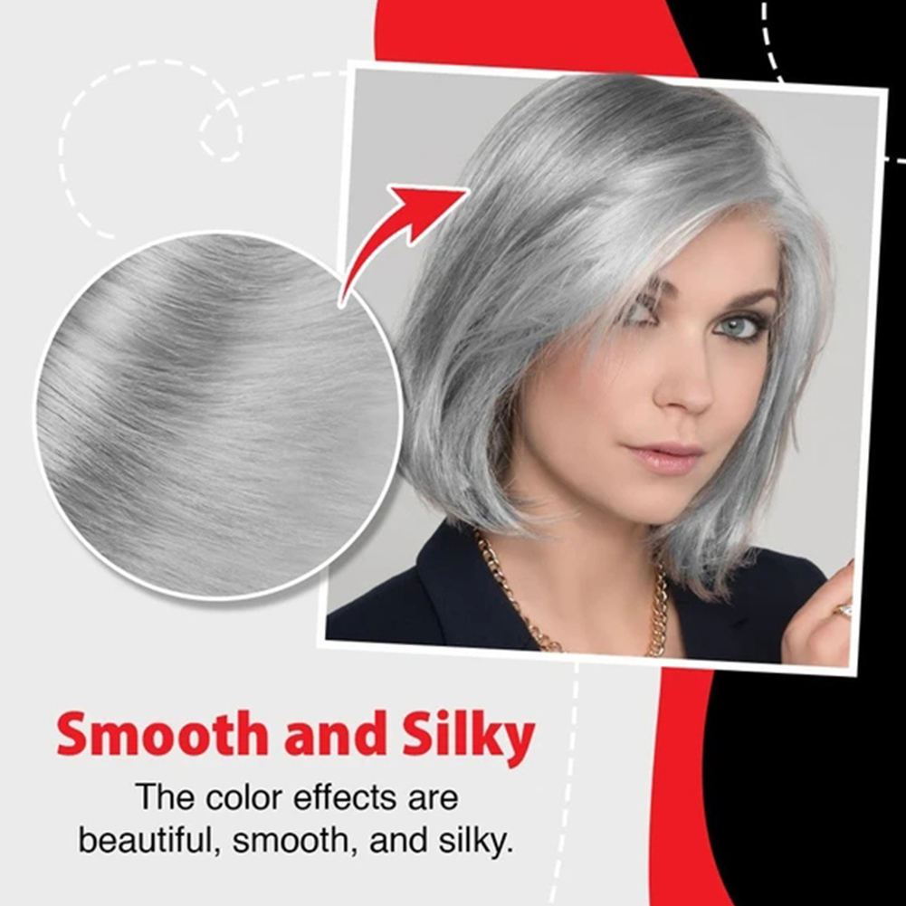 100ml Natural Hair Dye Cream For Beginners Universal Punk Style Party Permanent Smooth Professional Smoky Gray Home Salon L0702 6