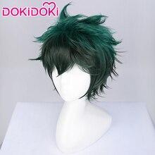 DokiDoki Anime Cosplay Wig My Hero Academia Midoriya Izuku Deku Short Green Hair Boku No