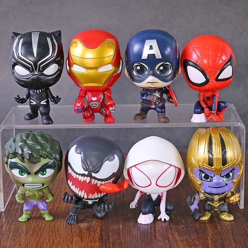 font-b-marvel-b-font-spiderman-gwen-stacy-venom-thanos-hulk-captain-america-iron-man-black-panther-q-version-action-figures-toys-8pcs-set